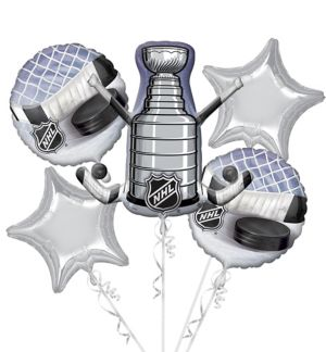 NHL Balloon Bouquet 5pc - Giant Stanley Cup