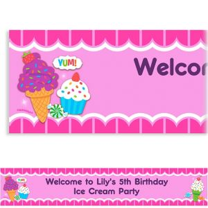 Custom Sweet Shop Banner