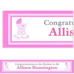 Custom Celebrate Baby Girl Banner