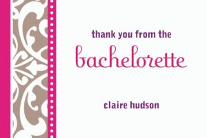 Custom Classic Bride Thank You Note