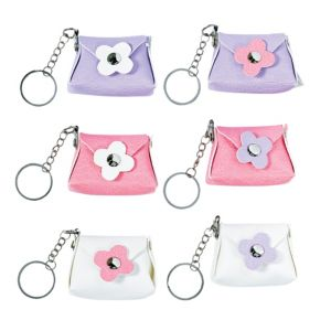Daisy Purse Keychains 6ct
