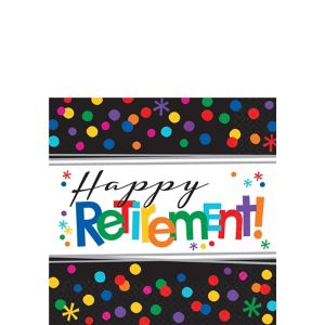 Happy Retirement Celebration Beverage Napkins 16ct