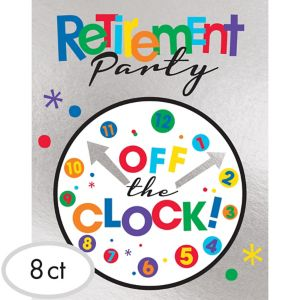 Happy Retirement Celebration Invitations 8ct