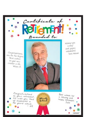 Happy Retirement Celebration Autograph Photo Mat