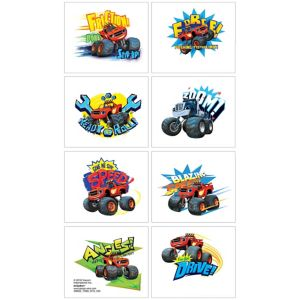 Blaze and the Monster Machines Tattoos 1 Sheet