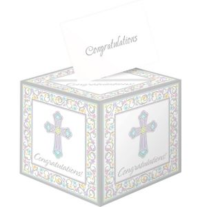 Blessed Day Religious Card Box Holder