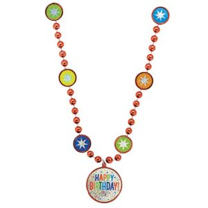 Rainbow Balloon Bash Birthday Necklace