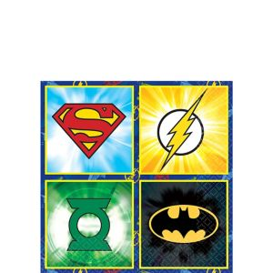 Justice League Beverage Napkins 16ct