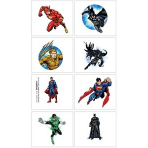 Justice League Tattoos 1 Sheet