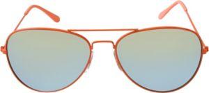 Orange Mirrored Aviator Sunglasses