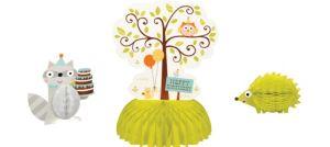 Boy Birthday Honeycomb Centerpieces 3ct - Happi Woodland