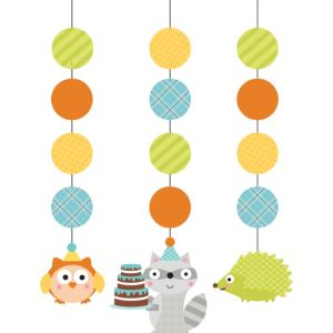 Boy Birthday String Decorations 3ct - Happi Woodland