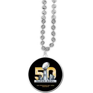 Super Bowl 50 Pendant Bead Necklace