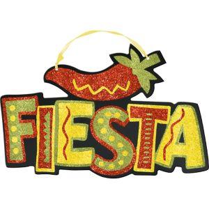 Glitter Fiesta Sign