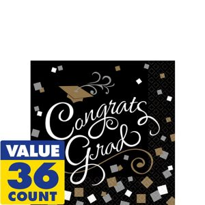 Congrats Graduation Beverage Napkins 36ct