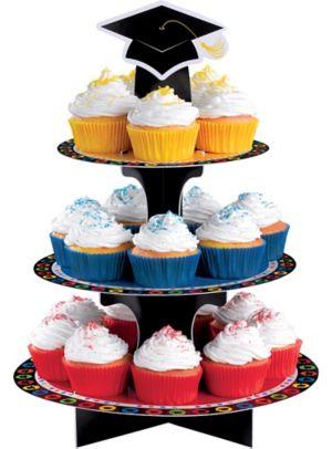 Multicolor Graduation Cupcake Stand