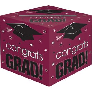 Berry Graduation Card Holder Box - Congrats Grad