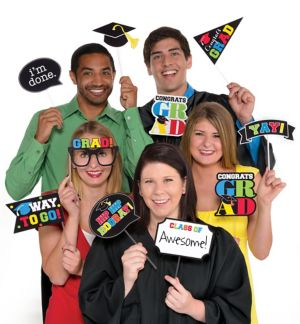 Multicolor Graduation Photo Booth Props 13ct