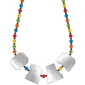Multicolor Graduation Bead Necklace