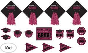 Berry Graduation Cutouts 16ct - Congrats Grad
