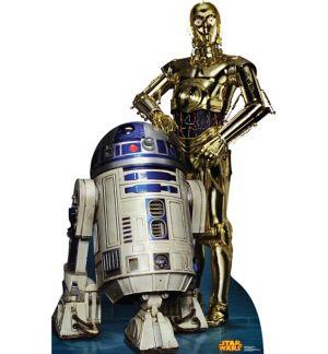 C-3PO & R2-D2 Life-Size Cardboard Cutout - Star Wars