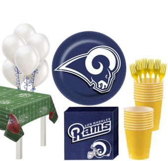 Los Angeles Rams Super Party Kit for 18 Guests