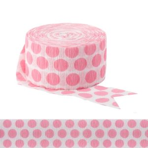 Pink Polka Dot Streamer