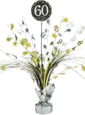 60th Birthday Spray Centerpiece - Sparkling Celebration
