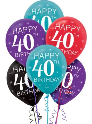 Celebrate 40th Birthday Balloons 15ct