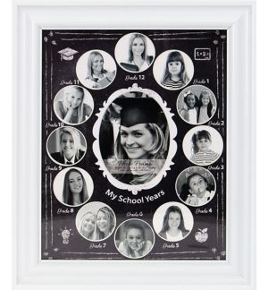 Chalkboard White My School Years Graduation Photo Frame