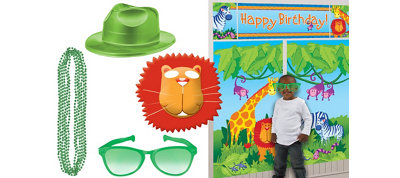 Jungle Animals Photo Booth Kit
