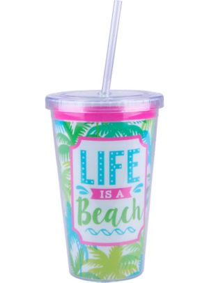 Life is a Beach Double Wall Tumbler