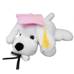 Pink Graduation Dog Plush