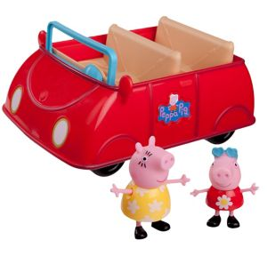 Peppa Pig Red Car Playset 3pc