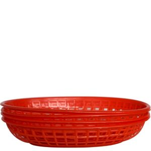 Red Plastic Food Baskets 4ct