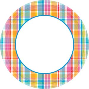 Sunny Plaid Dinner Plates 40ct