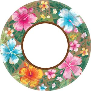 Hawaiian Hibiscus Dinner Plates 18ct