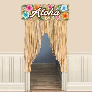 Hawaiian Hibiscus Door Curtain