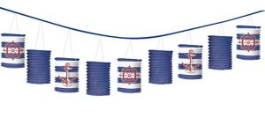 Striped Nautical Paper Lantern Garland