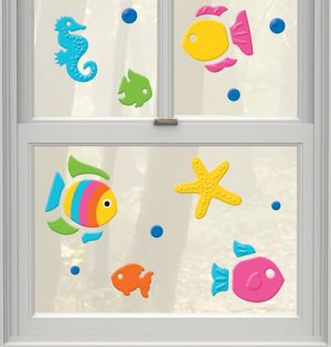 Tropical Fish Gel Cling Decals 23ct
