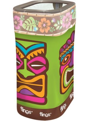 Tropical Tiki Flings® Pop-Up Trash Bin