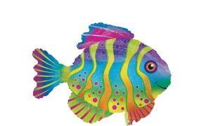 Giant Prismatic Colorful Fish Balloon