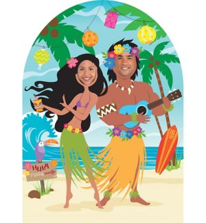 Life-Size Hula Photo Cutout