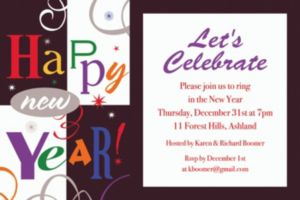 Custom Festive New Year Invitation
