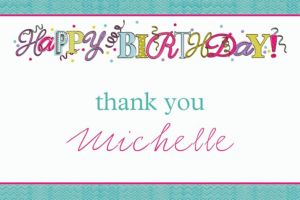 Custom Sweet Party Thank You Note
