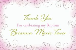 Custom Floral Cross Pink Thank You Note