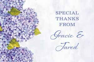 Custom Bundled Hydrangeas Thank You Note