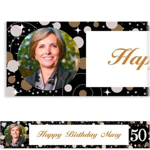 Custom Sparkling Celebration 50 Photo Banner