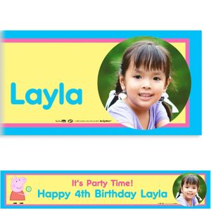 Custom Peppa Pig Photo Banner