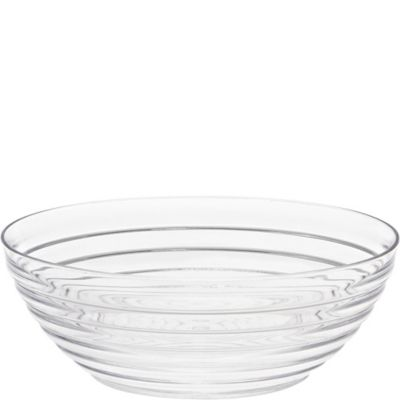 CLEAR Plastic Ringed Bowl